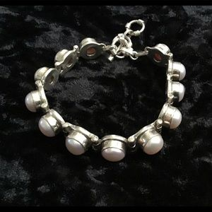Bracelet - 925 silver and pearl